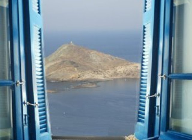 A room with a view in Tinos, Greece