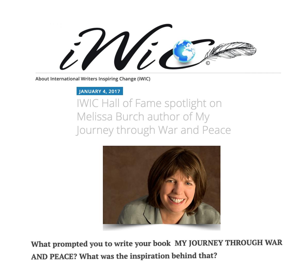 International Writers Inspiring Change IWIC