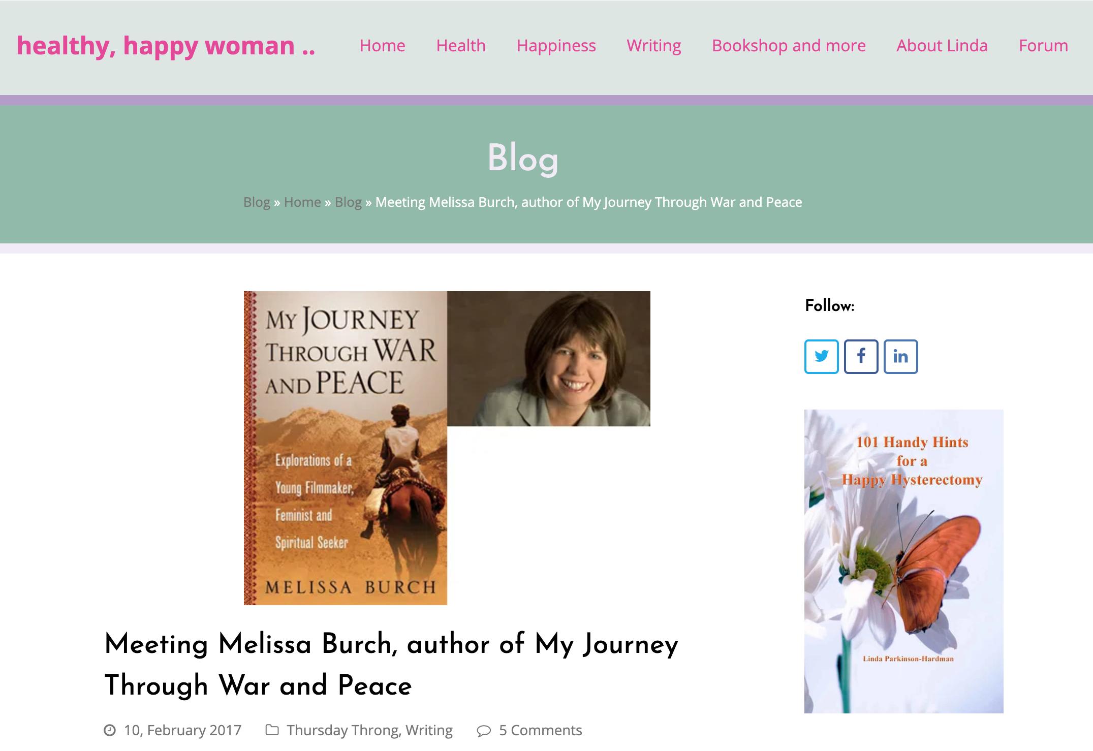Healthy Happy Woman Melissa Burch